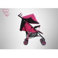 Quality Colorful Baby Trend Umbrella Stroller ,  Safety Lock Red Umbrella Stroller for sale