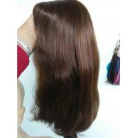 18 Inch Color #6 Virgin Human Hair Jewish Wig Kosher Wig Natural Straight  in Stock