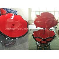 China Custom Oversize Fiberglass Resin Statues Easy To Clean Red Fiberglass Fish Sculpture on sale