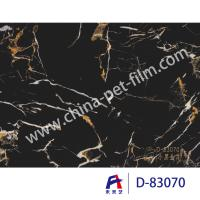 Quality High Definition Printing Pvc Decorative Foil Black Marble Moth Proofing for sale