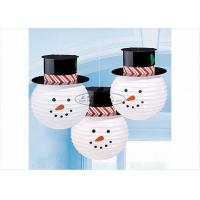 "Quality Commercial Handmade Paper Christmas Ornaments 8"" 10"" 12"" , Snowman With Hat Shaped for sale"