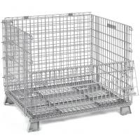 Quality Galvanized Metal Folding Wire Container For Spare Parts Storage 50x100mm for sale