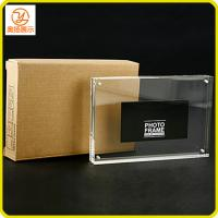 Quality customize 8 inches transparent acrylic magnetic picture frame for sale