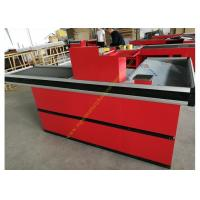 Quality Metallic Material Cashier Checkout Counter With 3 Years Warranty for sale