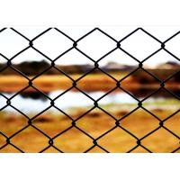 China 6 FT X 10 FT Green PVC Chain Wire Fencing / Chain Length Fence For Protecting on sale