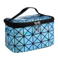 Quality Travel Cosmetic Waterproof Fabric 3D Laser Makeup Clutch Pouch Cosmetic and Toiletries Organizer PU Bag Travel for sale