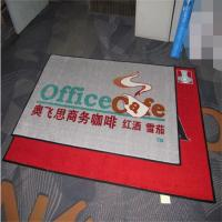 Quality Nylon material pvc backing printed brand logo entrance mat for sale