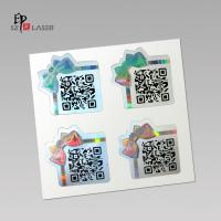 China Custom Polyester Holographic sticker labels with serial number printing on sale