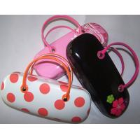 Quality Hot selling printed handmade sunglasses cases with handle-flower n dot design printed for sale