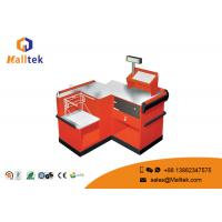 Quality Orange Supermarket Checkout Counter Safety Double Side Eco - Friendly for sale