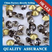 Quality Black Diamond Wholesale For Dresses Non Foil Back Strass Stones,Stones Strass Non Hot Fix Back Pointed Strass for sale