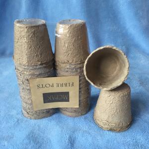 "MCPAK Seed starter peat pots pack of 48 biodegradable pots 8cm/3"" Round prevent transplant shock"