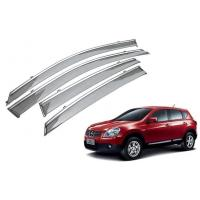Quality Rain Shield For Nissan Qashqai 2008 - 2014 With Stainless Steel Stripe for sale