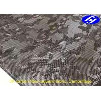 Quality Camouflage Pattern 3K Carbon Fiber Jacquard fatigues Fabric for sale