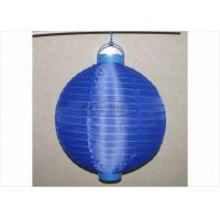 Quality 30 Cm Led Paper Lanterns Battery Operated , Silk Nylon Fabric Outdoor Hanging Paper Lanterns for sale
