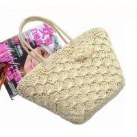 Quality Multi-functional Lace straw beach tote bag for sale