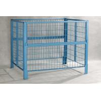 Buy Gold Zinc Plated Foldable Pallet Container Roll Cage 1000 Ltr Ibc Container at wholesale prices