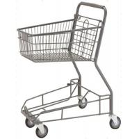 Quality Supermarket Storage Hand Shopping Cart Grocery Basket With Wheels for sale