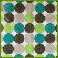 Quality Printed ball designs table cloth made of 100% polyester woven fabric cloths for sale