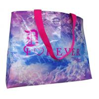 Quality Custom Printed Non Woven Carry Bag Shining Coated  Pink Handle For Shopping for sale