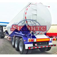 Quality 55 000 Liters Bulk Cement  Tank Semi Trailer Three Axles Leaf Spring Suspension for sale