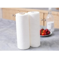 Quality Wood Pulp Nonwoven Fabric 60gsm Disposable Dish Cloths for sale