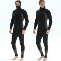 China Full Body 5 mm Professional neoprene mens spearfishing Waterproof dive suit for swimming Windproof surfing wetsuit on sale