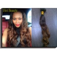 Quality 1b# Colored Human Hair Extensions / Ombre Curly Human Hair Weave for sale