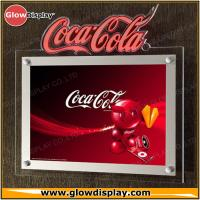 Quality Crystal Acrylic Slim LED Sign Boards Wall Mounted Indoor For Advertising for sale