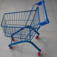 Quality Kids Shopping Carts Supermarket Children Trolley 20L Zinc Plated for sale