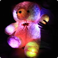 Quality Romantic plush toys/led teddy bear/light up animal toys for sale