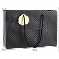 Quality Luxury Paper Gift Bag with Round PP Handles for sale