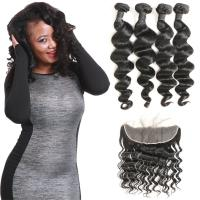 Quality Waterproof Brazilian Natural Hair Extensions Loose Wave Lace Frontal Closure for sale