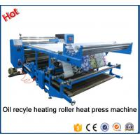 Quality New type Oil recyle heating roller press machine\Blanket fabric printing heat transfer machine for fabric factory26A for sale