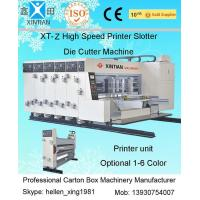 Quality Automatic 4 Color Corrugated Box Printer Slotter Die Cutter Machine with Stacker for sale