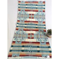 Double Looped Jacquard Beach Towel Colored Embroidered Three - Dimensional Pattern