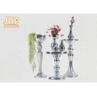 Quality Silver Mirror Mosaic Fiberglass Pedestal Plant Stand Round Telephone Table for sale