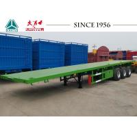 Quality 40 FT 3 Axle Flatbed Trailer With Germany Type Axle For Zambia for sale
