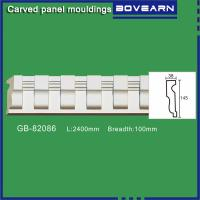 Buy Polyurethane chair rail moulding white primed color customized OEM accepted at wholesale prices