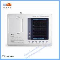China hospital use 3 channel 6 channel 12 channel ECG machine with touch screen on sale