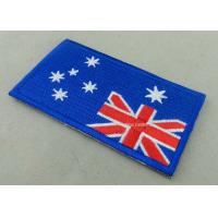 Quality Heat Cut Custom Embroidered Badges , Professional Garment Accessories Custom Clothing Patches for sale