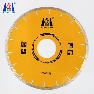 Quality HUAZUAN 250mm diameter free chip marble diamond cutting discs for sale