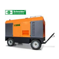 Quality High Efficiency Portable Screw Air Compressor , 46KW Mobile Diesel Air Compressor for sale