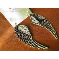 Quality Earring with Silver Tone Crystal Wing Earring for sale