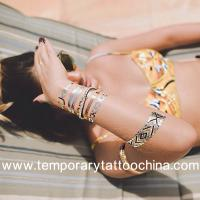 Quality Wholesale jewelry gold foil tattoo 3d sexy flash metallic temporary tattoo for hands for sale
