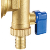 """Quality 6020 Brass End Piece With G1"""" Felxible Female Nut For Hot Forged Return Manifold Flushing Draining Ball Valve Integrated for sale"""