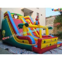 PVC Tarpaulin Giant Dry Commercial Inflatable Slide Combo Games With Customized