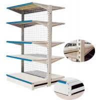 Buy cheap 0.5mm Back Board Cold Rolled Steel Supermarket Shelving 80kg / Layer , Anti - from wholesalers