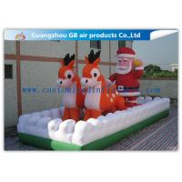 outside inflatable christmas blow up santa and reindeer for party stores - Christmas Blow Ups Cheap