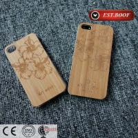 Quality Bamboo Chip PC Apple iPhone Leather Cases Custom With Nice Figure for sale